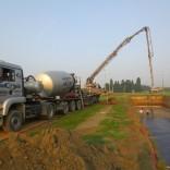 Voorbereidende werken en gieten betonplaat