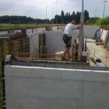 Eindfase opbouw ondergrondse schietstand